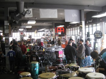 Stanton Moore Drum Set Clinic at Rhythm Traders
